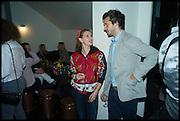 BRIDGET BURROWS; JOSH LILLEY, Frieze party, ACE hotel Shoreditch. London. 18 October 2014
