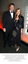 Handbag designer ANYA HINDMARSH and her husband JAMES, at a ball in London on 18th April 2004.PTG 54