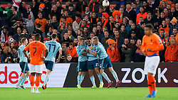 10-10-2019 NED: Netherlands - Northern Ireland, Rotterdam<br /> UEFA Qualifying round Group C match between Netherlands and Northern Ireland at De Kuip in Rotterdam / Josh Magennis #21 of Northern Ireland scores 0-1