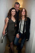 ALISON JACQUES; MICHAELA CONWAY; PATTI SMITH; , Robert Mapplethorpe's A Season in Hell. Alison Jacques Gallery and afterwards at the Sanderson Hotel. Berners St. London. 13 October 2009.