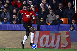 December 12, 2018 - Valencia, Spain - Paul Pogba of Manchester United   during UEFA Champions League Group H between Valencia CF and Manchester United at Mestalla stadium  on December 12, 2018. (Photo by Jose Miguel Fernandez/NurPhoto) (Credit Image: © Jose Miguel Fernandez/NurPhoto via ZUMA Press)