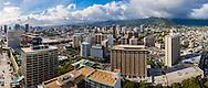 Panorama of the city of Honolulu, Oahu, Hawaii