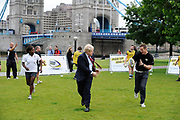 Mayor of London Boris Johnson and England World Cup winner Will Greenwood joined forces to launch O2 Touch, an RFU initiative which aims to get England playing touch rugby this summer. With the Rugby World Cup 2011 taking place this September the level of interest in rugby is due to increase over the coming months. O2 Touch, run in conjunction with the RFU, is encouraging everyone to get active, play touch and have fun with a rugby ball this summer.