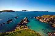 Dun Chaoin pier at The Blasket Islands in County Kerry Ireland.<br /> Picture by Don MacMonagle -macmonagle.com