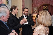 CATHERINE BAILEY; TOM FORD; , Graydon Carter hosts a diner for Tom Ford to celebrate the London premiere of ' A Single Man' Harry's Bar. South Audley St. London. 1 February 2010
