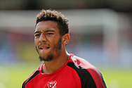 Swindon Keshi Anderson (30) warming up before the EFL Sky Bet League 2 match between Swindon Town and Barnet at the County Ground, Swindon, England on 2 September 2017. Photo by Gary Learmonth.