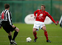 Fotball , 17. februar 2007 , La Manga ,<br /> Brann - KR Reykjavik 0-4<br /> <br /> Kristjan Sigurdson , Brann mot Bjarnilfur Larusson , KR