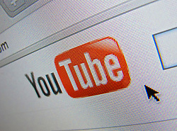 Detail of Youtube video sharing website homepage screen shot