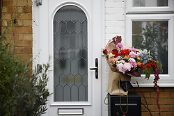 © Licensed to London News Pictures. 30/10/2020. London, UK. A bouquet of flowers has been delivered to former Labour party leader Jeremy Corbyn's north London home. Yesterday Mr Corbyn was suspended over his reaction to the Equality and Human Rights Commission's anti-Semitism report. Photo credit: Peter Macdiarmid/LNP