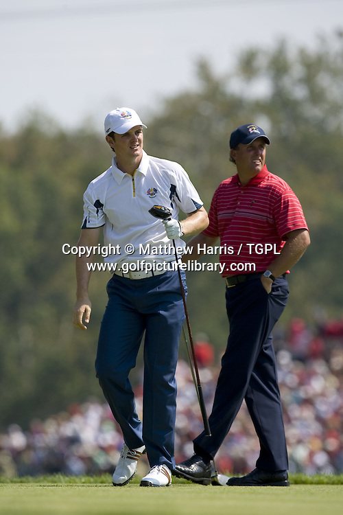 Justin ROSE (EUR) V Phil MICKLESON (USA) during Singles 2008 Ryder Cup Matches, Valhalla, Louisville, Kentucky, USA.