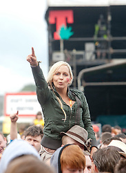 Fans of Kassidy at the Radio 1/NME Stage..T in the Park on Friday 8th July 2011. T in the Park 2011 music festival takes place from 7-10th July 2011 in Balado, Fife, Scotland..©Pic : Michael Schofield.