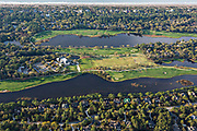 Aerial view of the River Course Golf Course on Kiawah Island, South Carolina.