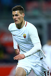 January 21, 2018 - Milan, Italy - Patrik Schick of Roma  during the Serie A match between FC Internazionale and AS Roma at Stadio Giuseppe Meazza on January 21, 2018 in Milan, Italy. (Credit Image: © Matteo Ciambelli/NurPhoto via ZUMA Press)