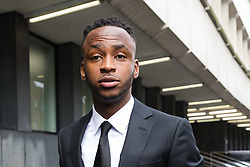 © Licensed to London News Pictures. 06/03/2019. London, UK.  Stoke City footballer, Saido Berahino arrives at Highbury Corner Magistrates court. The Stoke City and Burundi striker, Saido Berahino has been charged with drink-driving.  Photo credit: Vickie Flores/LNP