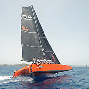 G4 gunboat at race week.<br /> In April, 2015 yachts from all over the world will arrive in Antigua to participate in the one of the world's major sailing events and the granddaddy of Caribbean regattas, Antigua Sailing Week, to be held from the 25th of April to the 1st of May, 2015. From small beginnings this regatta has developed over the past 47 years to become one of the preeminent yacht racing events in the Caribbean and one of the most prestigious in the world.<br /> Over 100 yachts participate every year ranging in size from 24 feet to over 100 feet. The Regatta attracts everything from serious racing boats including state-of-the-art, high-tech racing machines to a variety of performance cruising and cruising boats.