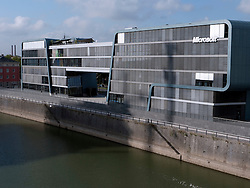 Exterior of modern Microsoft office building in Cologne Germany