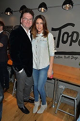 LISA SNOWDON and EWAN VENTERS at a party to celebrate the launch of Top Dog at 48 Frith Street, Soho, London on 27th May 2015