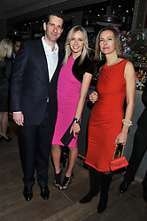 MARLON & NADYA ABELA and actress CAROLE BOUQUET at a dinner hosted by Marlon & Nadya Abela at Cassis 232-236 Brompton Road, London to thank customers & friends for their custom held on 9th February 2012.