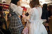 inside a Lolita store in the Harajuku district of Tokyo Japan