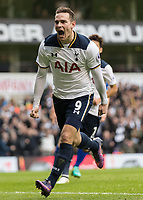 Football - 2016 / 2017 Premier League - Tottenham Hotspur vs. Leicester City <br /> <br /> Vincent Janssen of Tottenham celebrates after opening the scoring at White Hart Lane.<br /> <br /> COLORSPORT/DANIEL BEARHAM