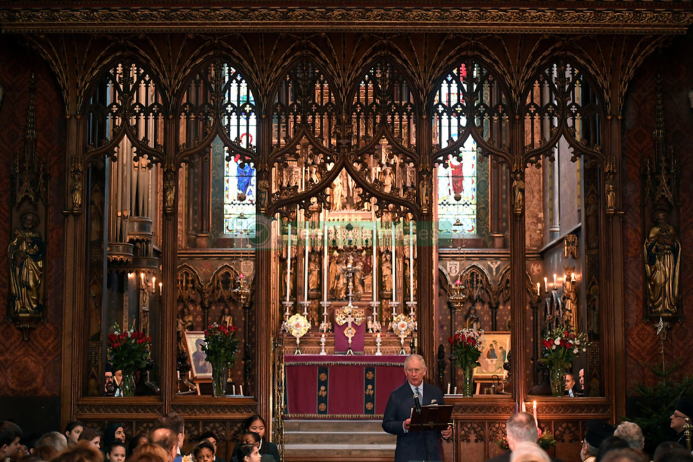 December 23, 2017 - London, London, United Kingdom - Image licensed to i-Images Picture Agency. 19/12/2017. London, United Kingdom.  The Prince of Wales at a service of prayers by the Melkite Greek-Catholic community at St. Barnabas Church in London. (Credit Image: © Rota/i-Images via ZUMA Press)