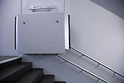 handicap railing elevator in public building