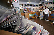 3beat Records in Liverpool city centre which specialises in dance music vinyl sales, one of the dwindling number of independent record retailers in the UK.