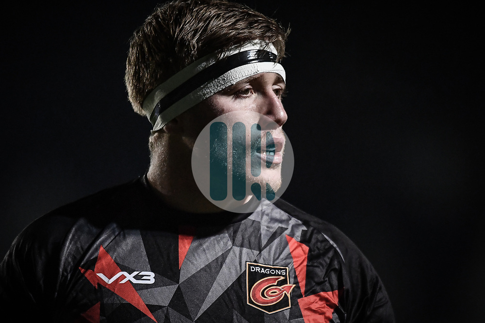Matthew Screech of Dragons during the pre match warm up<br /> <br /> Photographer Craig Thomas/Replay Images<br /> <br /> Guinness PRO14 Round 7 - Dragons v Zebre - Saturday 30th November 2019 - Rodney Parade - Newport<br /> <br /> World Copyright © Replay Images . All rights reserved. info@replayimages.co.uk - http://replayimages.co.uk