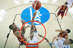 Mohamed Kherrazi of Netherlands during basketball match between Netherlands and Macedonia at Day 2 in Group C of FIBA Europe Eurobasket 2015, on September 6, 2015, in Arena Zagreb, Croatia. Photo by Vid Ponikvar / Sportida