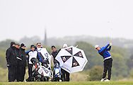 Alex Gleeson (Castle) on the 15th tee during Round 3 of the East of Ireland Amateur Open Championship at Co. Louth Golf Club, Baltray on Monday 1st June 2015.<br /> Picture:  Thos Caffrey / www.golffile.ie