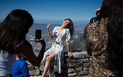 South Africa - Cape Town - 16 October 2020 -  Jordan Van der Vyver of Durbanville pose for a picture on top of Table Mountain. The top 10 finalist taking part in Miss SA 2020 visited Table Mountain on Friday. Miss South Africa 2020 will be the 62nd edition of the Miss South Africa pageant. The final pageant will be held on 24 October 2020 in The Table Bay Hotel, Cape Town, with a 2-hour live broadcast being simulcast on M-Net and Mzansi Magic. The pageant will also be televised live on YouTube to audiences around the world. Sasha-Lee Olivier of Gauteng will crown her successor at the end of the event. The winner of Miss South Africa will represent South Africa at Miss Universe 2020, and the runner ups will compete at Miss World 2021 and Miss Supranational 2021. This year's Top 10 Miss South Africa finalists represent six provinces – Gauteng has four (with three from Tshwane and one from Soweto), followed by the Eastern Cape with two, while Kwa-Zulu Natal, Western Cape, Limpopo and North West each has one entrant.  Picture Henk Kruger/African News Agency (ANA)