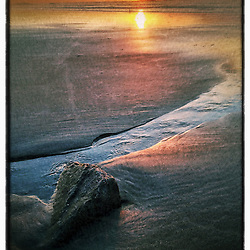 """Sunrise at Wallis Sands State Park, Rye, New Hampshire. iPhone photo - suitable for print reproduction up to 8"""" x 12""""."""