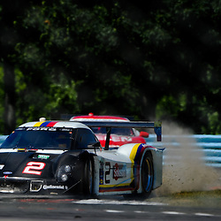 July 1, 2012 - The Starworks Motorsport Ford Riley driven by Lucas Luhr and Alex Popow slides through the grass in the inner loop during The Grand-Am Rolex Sports Car Series Sahlen's Six Hours of the Glen.
