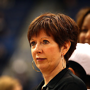 Notre Dame head coach Muffet McGraw during the Connecticut V Notre Dame Final match won by Notre Dame during the Big East Conference, 2013 Women's Basketball Championships at the XL Center, Hartford, Connecticut, USA. 11th March. Photo Tim Clayton