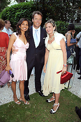 Left to right, COUNTESS MAYA VON SCHONBURG and JOEL & DIVIA CADBURY at the Tatler Summer Party, The Hempel Hotel, 31-35 Craven Hill Gardens, London W2 on 25th June 2008.<br /><br />NON EXCLUSIVE - WORLD RIGHTS