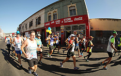 CILLIERS EUGENE makes his way through Woodstock during the 2016 Sanlam Cape Town marathon held in Cape Town, South Africa on the 18th September  2016<br /> <br /> Photo by: Ron Gaunt / RealTime Images
