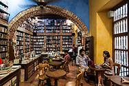 A bookstore café in the historic center of Cartagena