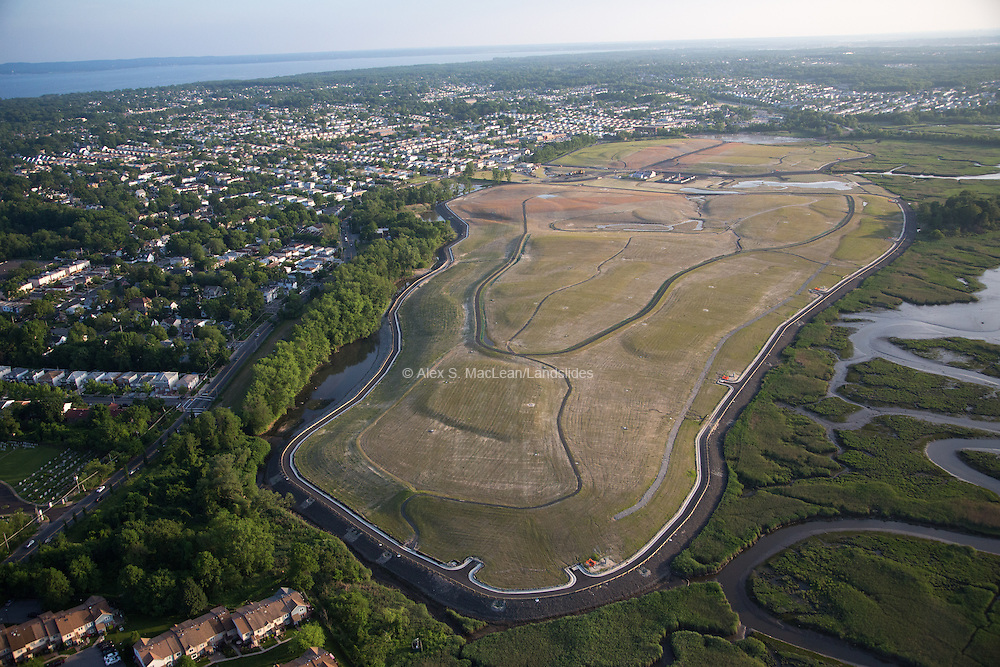 Fresh Kills Landfill, once the largest in the world, is now undergoing transformation into reclaimed wetlands, recreational facilities and landscaped public parkland. The project is designed by James Corner Operations.