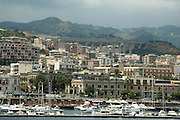 the old city of Messina as seen from the Messina port, sicily, Italy, July 2006.