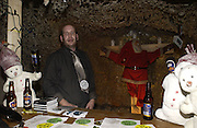 Opening of  Santa's Ghetto. Mixed art exhibition.  9 Berwick St. Soho, London. 30  November 2005. ONE TIME USE ONLY - DO NOT ARCHIVE  © Copyright Photograph by Dafydd Jones 66 Stockwell Park Rd. London SW9 0DA Tel 020 7733 0108 www.dafjones.com