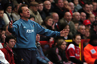 Photo: Tony Oudot.<br />Charlton Athletic v West Ham United. The Barclays Premiership. 24/02/2007.<br />West Ham manager Alan Curbishley looks dejected as his team lose 4-0