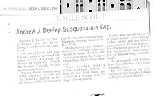 Andrew Deeley Article