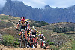 PAARL SOUTH AFRICA - MARCH 23: Yellow Jersey winner Jaroslav Kulhavy on the 70km final day, stage 7 on March 23, 2018 Wellingtion to Paarl, South Africa. Mountain bikers gather from around the world to compete in the 2018 ABSA Cape Epic, racing 8 days and 658km across the Western Cape with an accumulated 13 530m of climbing ascent, often referred to as the 'untamed race' the Cape Epic is said to be the toughest mountain bike event in the world. (Photo by Dino Lloyd)