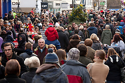 © Licensed to London News Pictures.09/12/2012. Lincoln,UK. On one of the busiest shopping weekends before Christmas, shoppers pack the streets of Lincoln. Pictured, shoppers throng the High Street in the centre of Lincoln. Photo credit : Dave Warren/LNP