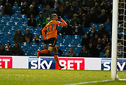 Goal celebration  by Wolverhampton Wanderers midfielder Romain Saiss during the EFL Sky Bet Championship match between Leeds United and Wolverhampton Wanderers at Elland Road, Leeds, England on 7 March 2018. Picture by Paul Thompson.