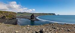 THEMENBILD - Kap Dyrholaey und der schwarze Strand von Reynisfjara, aufgenommen am 09. Juni 2019 in Island // Cape Dyrholaey and the black beach of Reynisfjara, Iceland on 2019/06/09. EXPA Pictures © 2019, PhotoCredit: EXPA/ Peter Rinderer