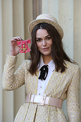 December 13, 2018 - London, United Kingdom - Keira Knightley with her OBE after an Investiture at Buckingham Palace in London. (Credit Image: © Stephen Lock/i-Images via ZUMA Press)