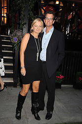 TV presenter ALICE BEER and MR PAUL PASCOE at the Goring Hotel Summer party, Goring Hotel, 15 Beeston Place, London on 17th September 2008.