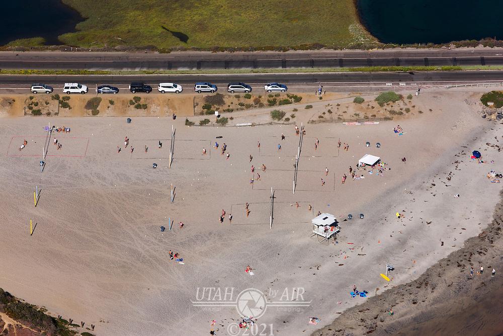 Beach Volleyball on the California Coastline