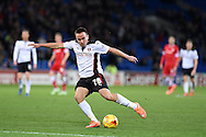 Paul Taylor of Rotherham Utd in action. Skybet football league championship match, Cardiff city v Rotherham Utd at the Cardiff city stadium in Cardiff, South Wales on Saturday 6th December 2014<br /> pic by Andrew Orchard, Andrew Orchard sports photography.